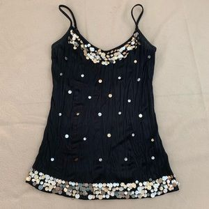 BONGO | Sequined Rumpled Dressy Tank Cami